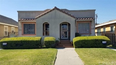 Los Angeles Single Family Home For Sale: 5303 S Manhattan Place