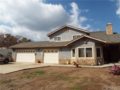 Agua Dulce Single Family Home For Sale: 35621 Beauty Vista Lane