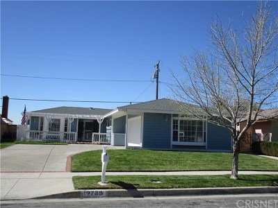Canyon Country Single Family Home For Sale: 19738 Merryhill Street