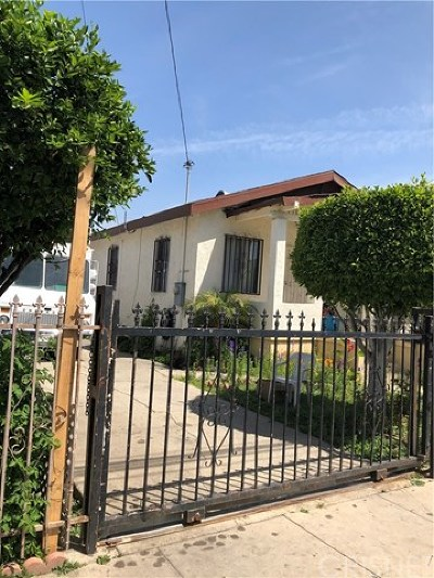 Los Angeles Single Family Home Active Under Contract: 1429 E 64th Street