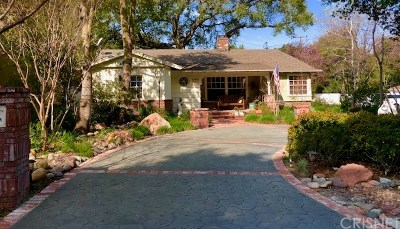 Newhall Single Family Home Active Under Contract: 24225 Cross Street