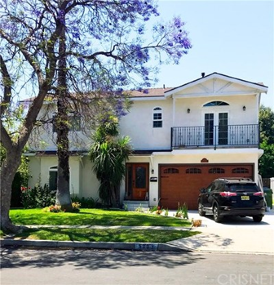 Sherman Oaks Single Family Home For Sale: 5339 Bevis Avenue