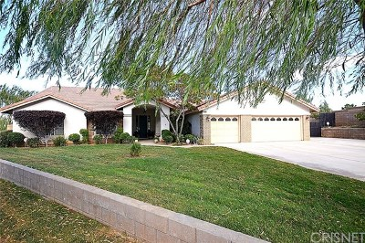 Palmdale, Lancaster, Quartz Hill, Antelope Acres, Rosamond, Leona Valley, Green Valley, Lake Elizabeth, Pearblossom, Littlerock, Juniper Hills, Llano, Lake Los Angeles, Wrightwood Single Family Home For Sale: 4501 W Avenue N4