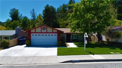 Castaic Single Family Home For Sale: 31571 Hipshot Drive