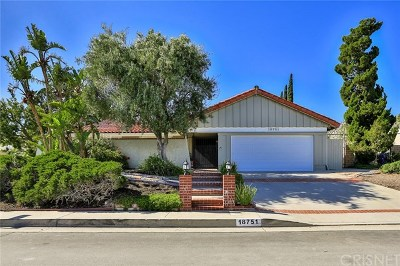 Porter Ranch Single Family Home For Sale: 18751 Lisburn Place
