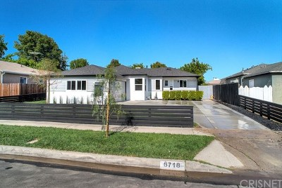 Reseda Single Family Home For Sale: 6718 Bovey Avenue