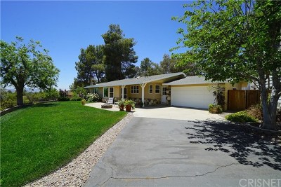 Agua Dulce Single Family Home Active Under Contract: 33555 Agua Dulce Canyon Road