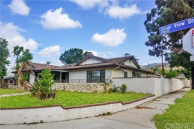 Sylmar Single Family Home For Sale: 13841 Olive View Drive