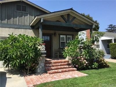 Burbank Single Family Home For Sale: 821 N Frederic Street