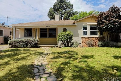 North Hollywood Single Family Home Active Under Contract: 6215 Gentry Avenue