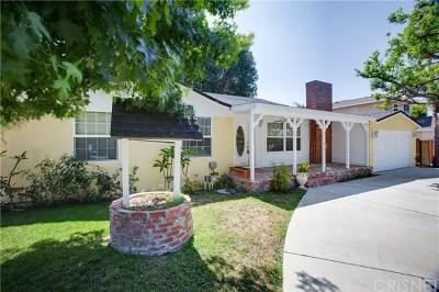Northridge Single Family Home Active Under Contract: 8844 Paso Robles Avenue