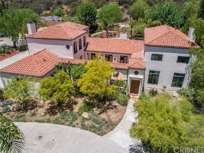 Calabasas Single Family Home For Sale: 2180 Stunt Road