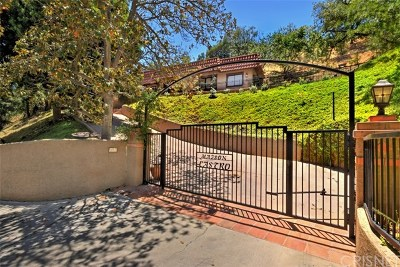 Sherman Oaks Single Family Home For Sale: 3725 Ventura Canyon Avenue