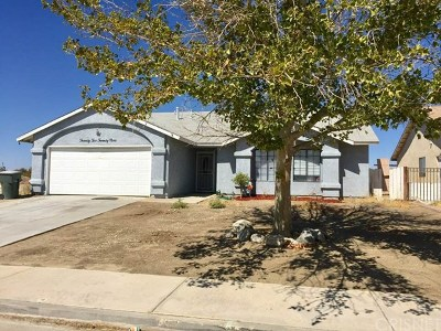 Rosamond Single Family Home Active Under Contract: 2229 Thistle Street