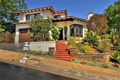 Calabasas Single Family Home For Sale: 4436 Alta Tupelo Drive