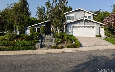 Calabasas Single Family Home For Sale: 22761 Carsamba Drive
