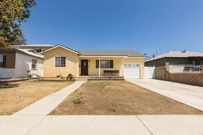 North Hollywood Single Family Home For Sale: 7846 Agnes Avenue