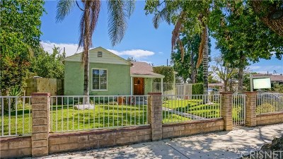 Van Nuys Single Family Home Active Under Contract: 7920 Lemona Avenue