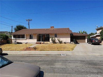 North Hollywood Single Family Home For Sale: 7925 Teesdale Avenue