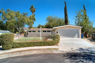 Canyon Country Single Family Home Active Under Contract: 27706 Tambora Drive
