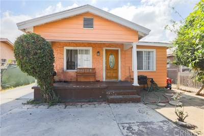 Los Angeles Single Family Home For Sale: 214 E 78th Street