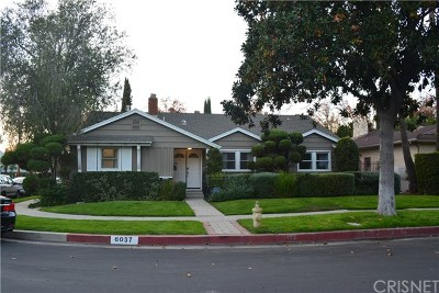 Valley Glen Single Family Home Active Under Contract: 6037 Mary Ellen Avenue
