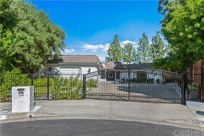 Encino Single Family Home For Sale: 18159 Medley Drive