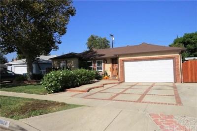 Lake Balboa Single Family Home For Sale: 16919 Hartland Street