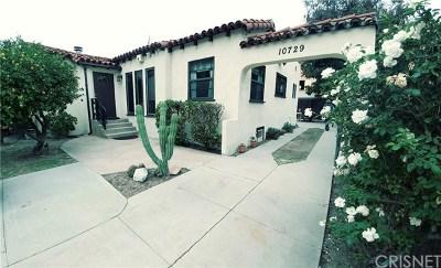 Studio City Single Family Home For Sale: 10729 Aqua Vista Street