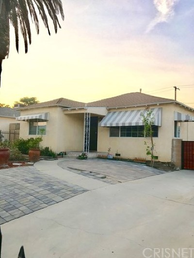 North Hollywood Single Family Home For Sale: 11127 Tiara Street