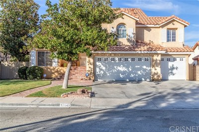 Lancaster, Palmdale, Quartz Hill Single Family Home For Sale: 37649 Highland Court