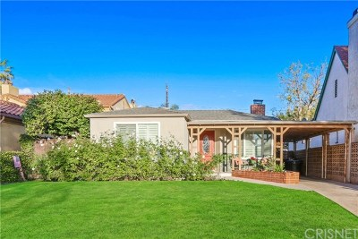 Burbank Single Family Home Active Under Contract: 322 N Lima Street