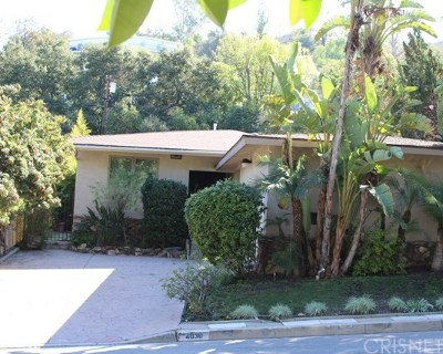 Sherman Oaks Single Family Home For Sale: 4030 Beverly Glen Boulevard
