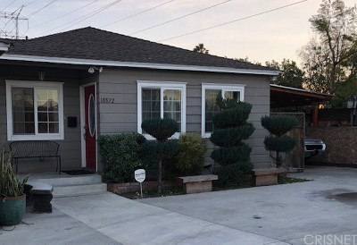 Reseda Single Family Home For Sale: 18822 Valerio Street