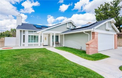 Saugus Single Family Home For Sale: 22545 Honnold Drive