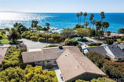 Malibu Single Family Home For Sale: 20239 Inland Lane