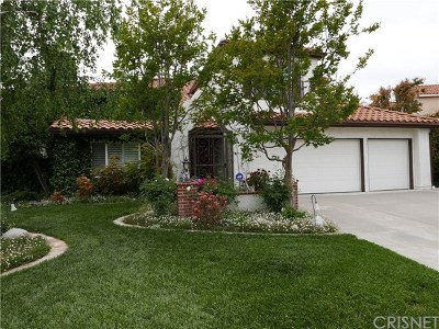Newhall Single Family Home For Sale: 24453 Brook Court