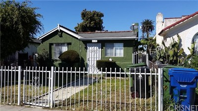 Los Angeles Single Family Home For Sale: 1531 W 59th Place