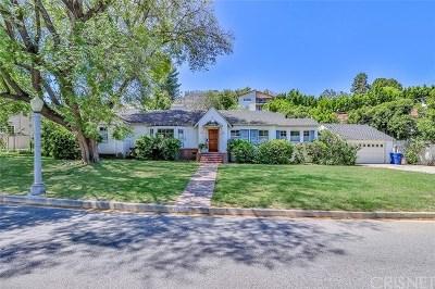 Sherman Oaks Single Family Home For Sale: 4103 Beverly Glen Boulevard