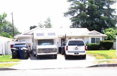 Winnetka Single Family Home For Sale: 20328 Schoenborn Street