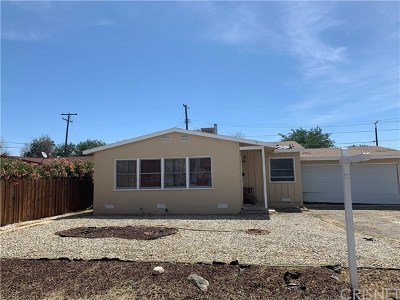 Palmdale Single Family Home For Sale: 38602 Friendly Avenue