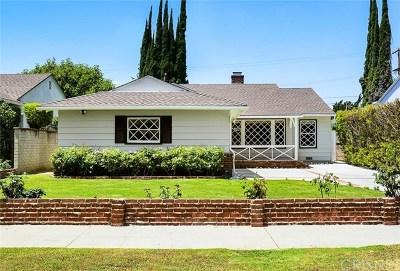 Sherman Oaks Single Family Home For Sale: 4847 Stansbury Avenue