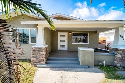Los Angeles Single Family Home For Sale: 1847 W 43rd Place