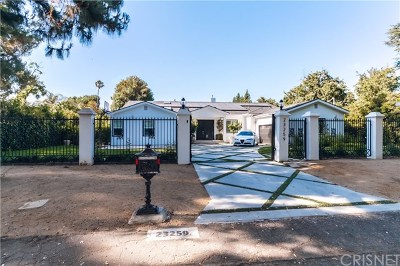 Brentwood, Calabasas, West Hills, Woodland Hills Single Family Home Active Under Contract: 23259 Collins Street