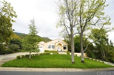 La Canada Flintridge Single Family Home For Sale: 5236 Castle Road