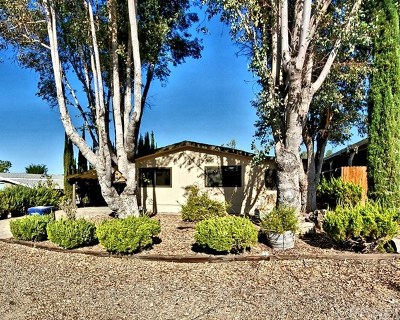 Paso Robles Mobile Home For Sale: 3025 Water View Drive