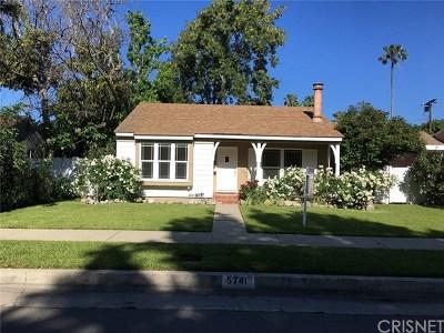 Valley Glen Single Family Home For Sale: 5741 Fulton Avenue