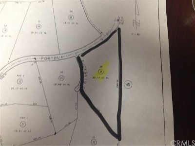 Residential Lots & Land For Sale: 46975 De Portola