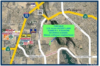 Victorville Residential Lots & Land For Sale: Montecito Drive