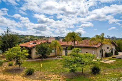 Bonsall Single Family Home For Sale: 6758 Camino Del Rey